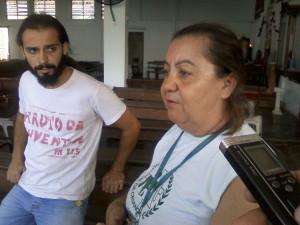 Bate papo com a Dona Gilda no Centro Comunitário