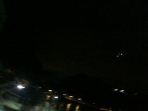 23h helicóptero da PM sobrevoando São Vicente