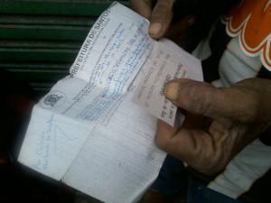 Documento que comprova cadastramento na Prefeitura para não ter sua carroça subtraída